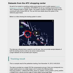 ATC shopping center tracking dataset