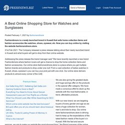 A Best Online Shopping Store for Watches and Sunglasses