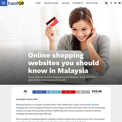 Online shopping websites you should know in Malaysia - ExpatGo