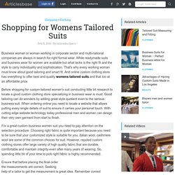 Shopping for Womens Tailored Suits