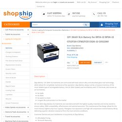 Buy online 12V 26AH SLA Battery for BP24-12 BP26-12 CF12V20 CFM12V25 ES26-12 GH12260
