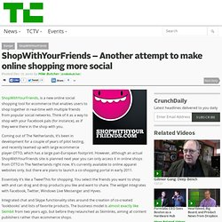 ShopWithYourFriends – Another attempt to make online shopping more social
