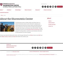 About Us - Joan Shorenstein Center on the Press, Politics and Pu