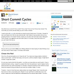 Short Commit Cycles