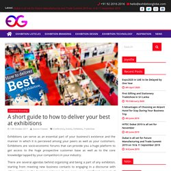 A short guide to how to deliver your best at exhibitions