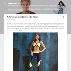 A short discussion on Sportswear for Women