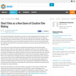 Short Films as a New Genre of Creative Film Making