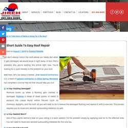 A Short Guide to Easy Roof Repair