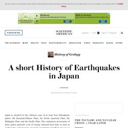 A short History of Earthquakes in Japan