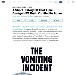 A Short History Of That Time George H.W. Bush Vomited In Japan