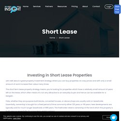 Short Lease Property for Sale