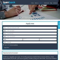 Short Term Loans for Unemployed People in The UK