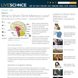 Short-Term Memory Loss: Definition, Causes & Tests