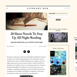 20 Short Novels To Stay Up All Night Reading