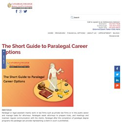 The Short Guide to Paralegal Career Options