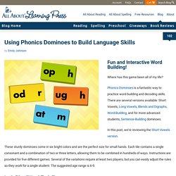 Short Vowel Phonics Dominoes: Game Review + FREE Game Sheet