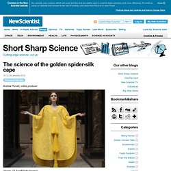 Short Sharp Science: The science of the golden spider-silk cape