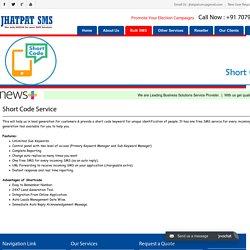Short Code SMS Patna - Jhatpat SMS