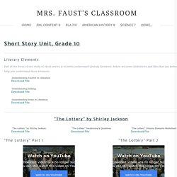 Short Stories - Mrs. Faust's Classroom