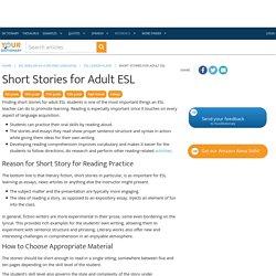 Short Stories for Adult ESL