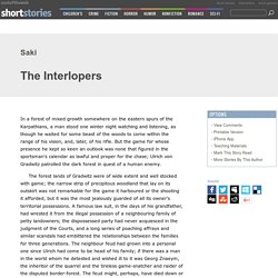 The Interlopers by Saki Characters