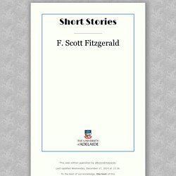 Winter Dreams from Short Stories by F. Scott Fitzgerald