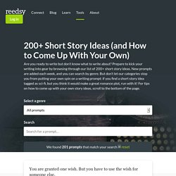 200+ Short Story Ideas… And How to Come Up With Your Own!