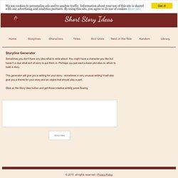 Short Story Ideas - Scenarios