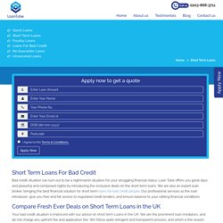 Short Term Loans for Bad Credit People in The UK