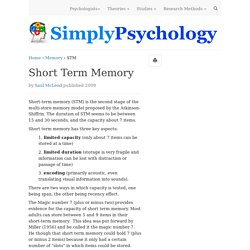 Short Term Memory