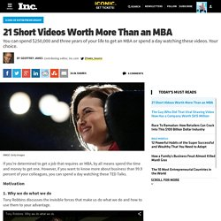 21 Short Videos Worth More Than an MBA