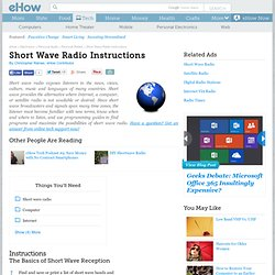 Short Wave Radio Instructions