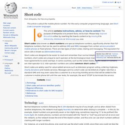Short code