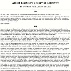 Short Words to Explain Relativity
