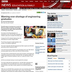 Warning over shortage of engineering graduates