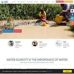 Global Water Shortage: Water Scarcity & The Importance of Water