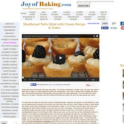 Shortbread Tarts w/Cream Filling Recipe With Picture - Joyofbaki