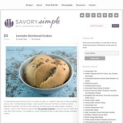 Lavender Shortbread Cookies | Savory Simple