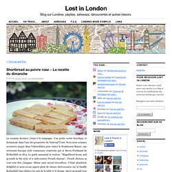 Shortbread au poivre rose – La recette du dimanche