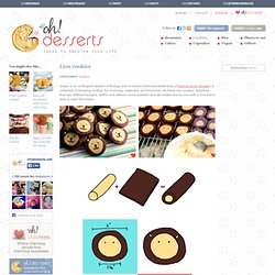 Lion cookies in Cookies, biscuits and shortbreads recipes
