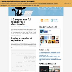 10 super useful WordPress shortcodes