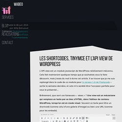 Les shortcodes, TinyMCE et l'API View de WordPress · Wabeo