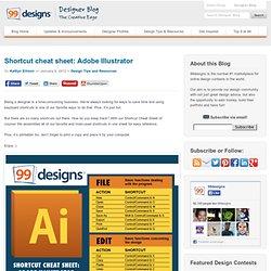 Shortcut cheat sheet: Adobe Illustrator - Designer Blog Designer Blog