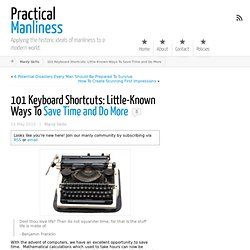 101 Keyboard Shortcuts: Little-Known Ways To Save Time and Do More