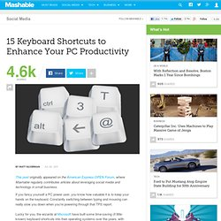 15 Keyboard Shortcuts to Enhance Your PC Productivity