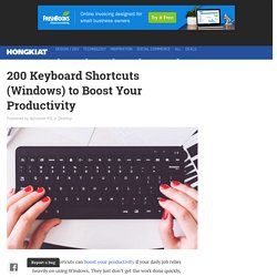 200 Keyboard Shortcuts (Windows) to Boost Your Productivity