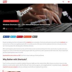 Windows Shortcuts 101 - The Ultimate Keyboard Shortcut Guide