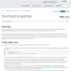Shorthand properties