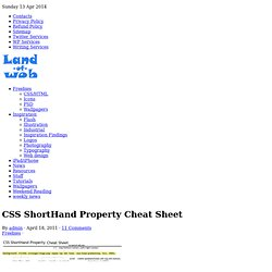 CSS ShortHand Property Cheat Sheet