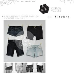 4 DIY denim shorts for your summer (all refashioned from pants)